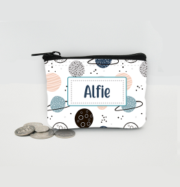 Personalised Space Planets Coin Purse