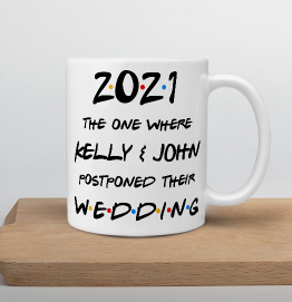 Personalised Lockdown Wedding Mug