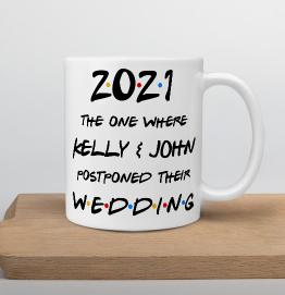 Personalised Lockdown Wedding Mug
