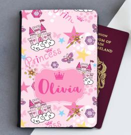 Personalised Princess Passport Cover