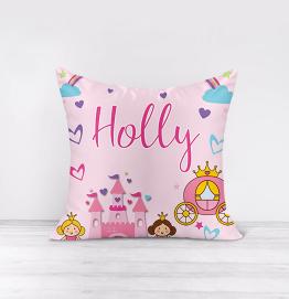 Personalised Princess Castle Cushion