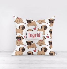 Personalised Pug Cushion