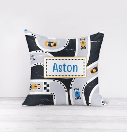 Personalised Cars Race Track Cushion