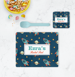 Personalised Rocket Space Ships Placemat & Coaster