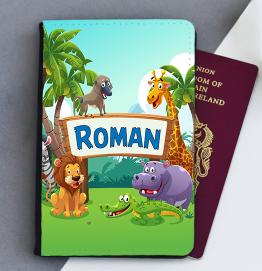 Personalised Safari Animals Passport Cover