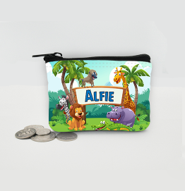 Personalised Safari Animals Coin Purse