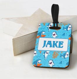 Personalised Shark Luggage Tag