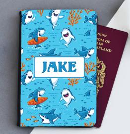 Personalised Shark Passport Cover