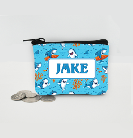 Personalised Shark Coin Purse