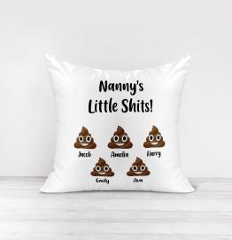 Personalised Little Shits Cushion