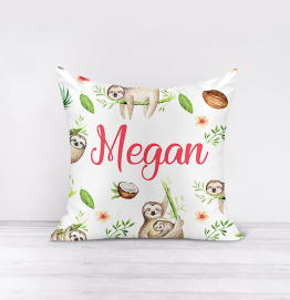 Personalised Sleepy Sloth Cushion