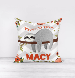 Personalised Sloth Cushion