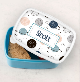 Personalised Space Planets Lunch Box