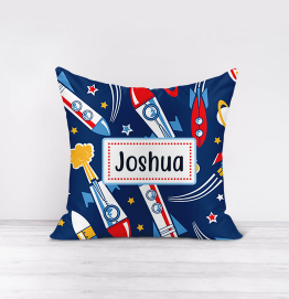 Personalised Space Rockets Cushion