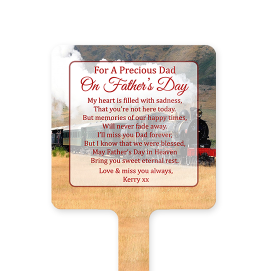 Personalised Steam Train Fathers Day Memorial Stake