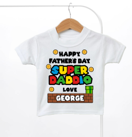 Personalised Super Daddio Fathers Day Kids T-Shirt