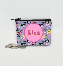 Personalised Superhero Girls Coin Purse