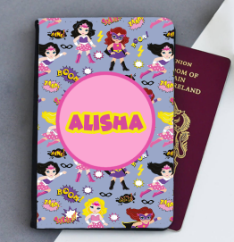 Personalised Superhero Passport Cover