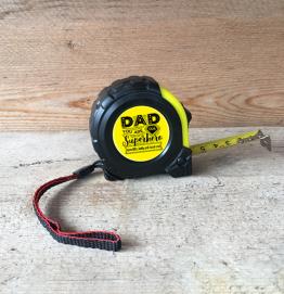 Personalised Dad Superhero Tape Measure