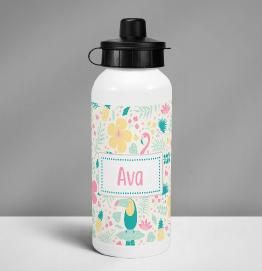 Personalised Colourful Unicorn Drinks Bottle