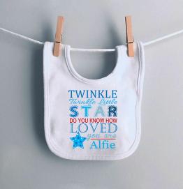 Personalised Twinkle Twinkle Little Star Bib