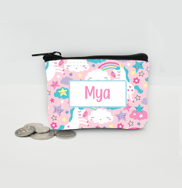 Personalised Unicorn Pink Coin Purse