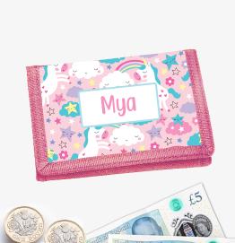Personalised Unicorn Pink Money Wallet