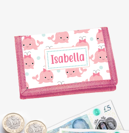 Personalised Whale Money Wallet
